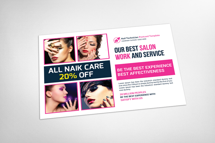 Nail Technician Postcard Template example image 3
