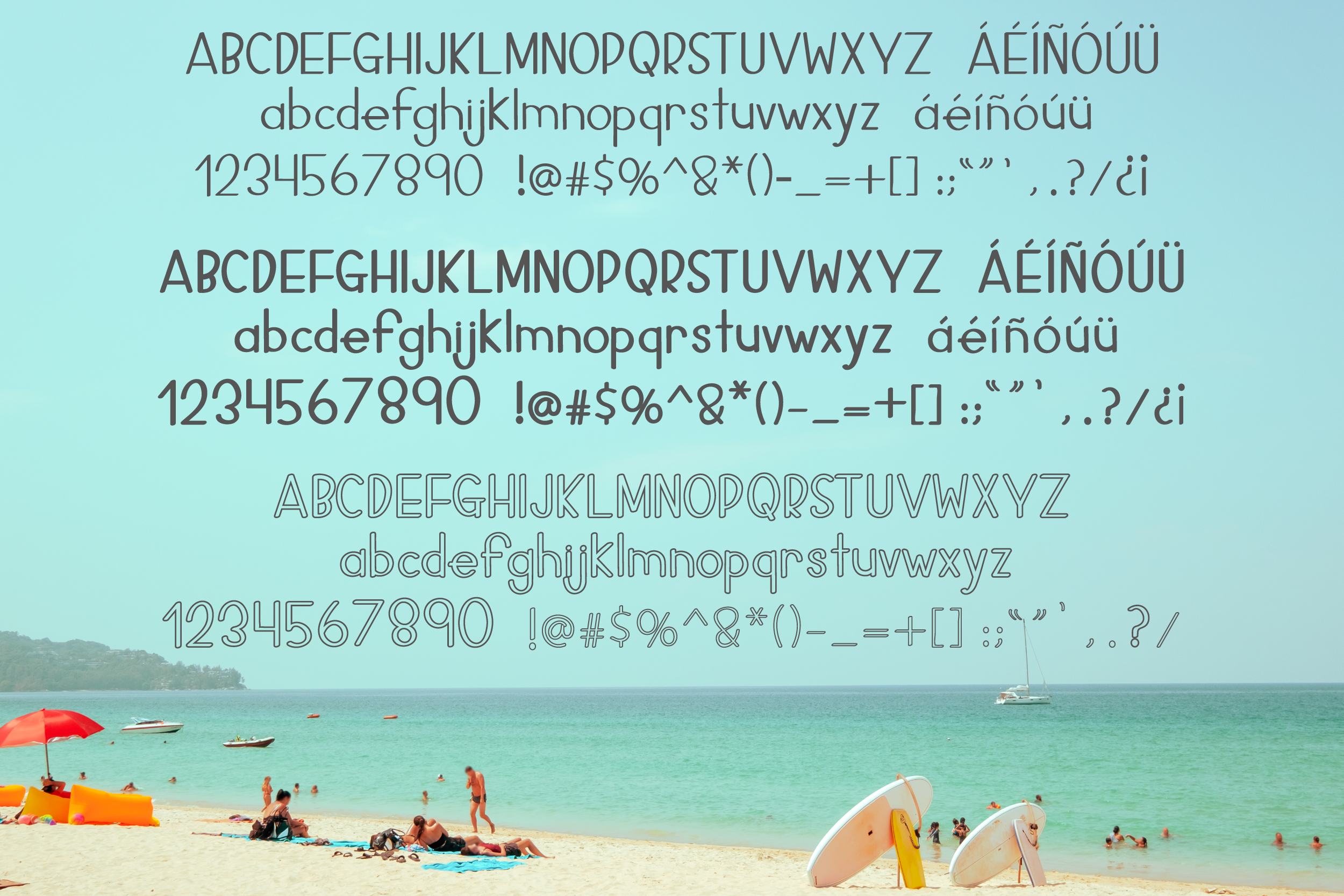 Top Heavy - 3 Large Top Fonts Included! example image 2