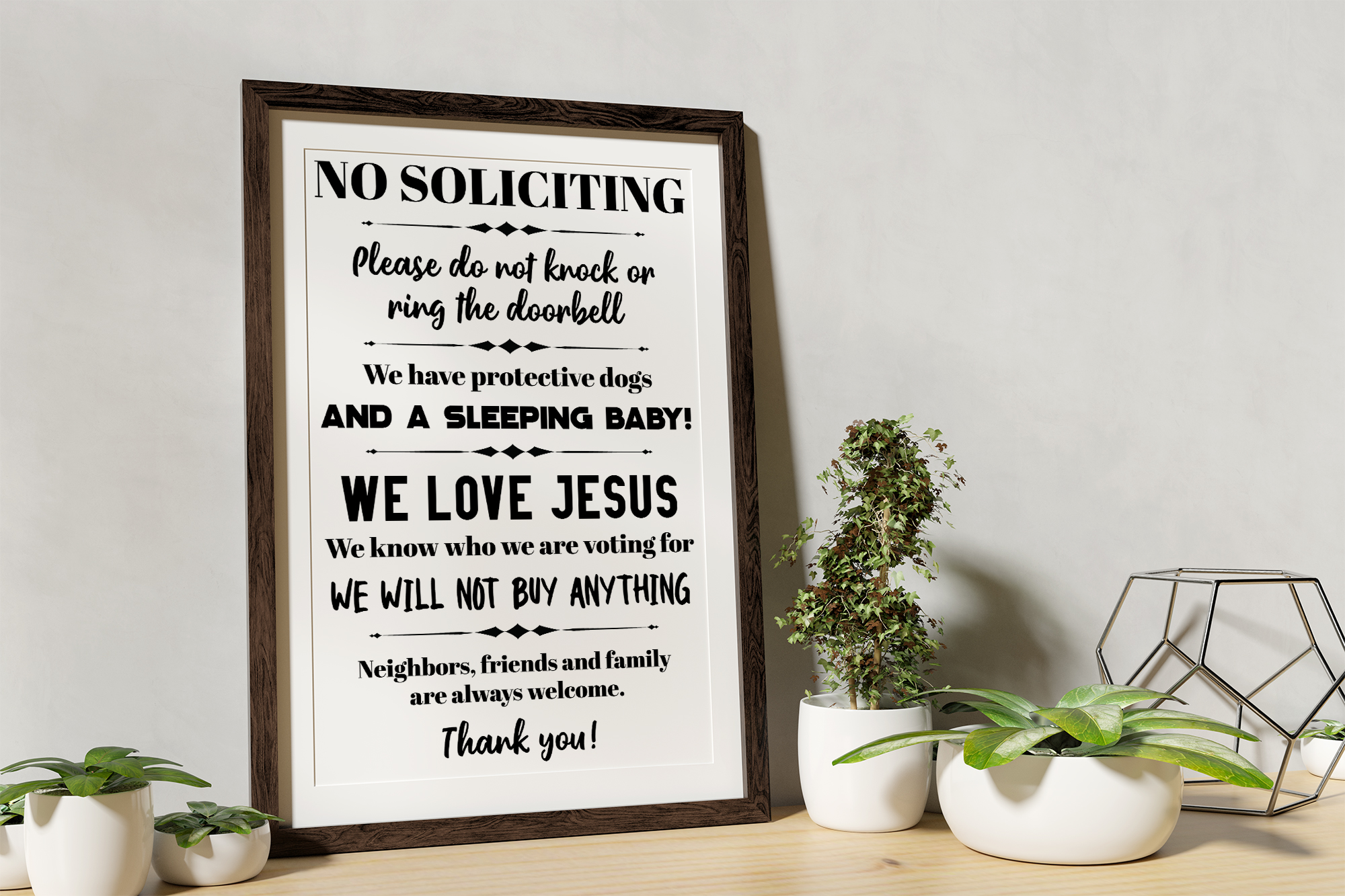 No Soliciting - Do Not Ring The Doorbell SVG EPS Solicitors example image 2