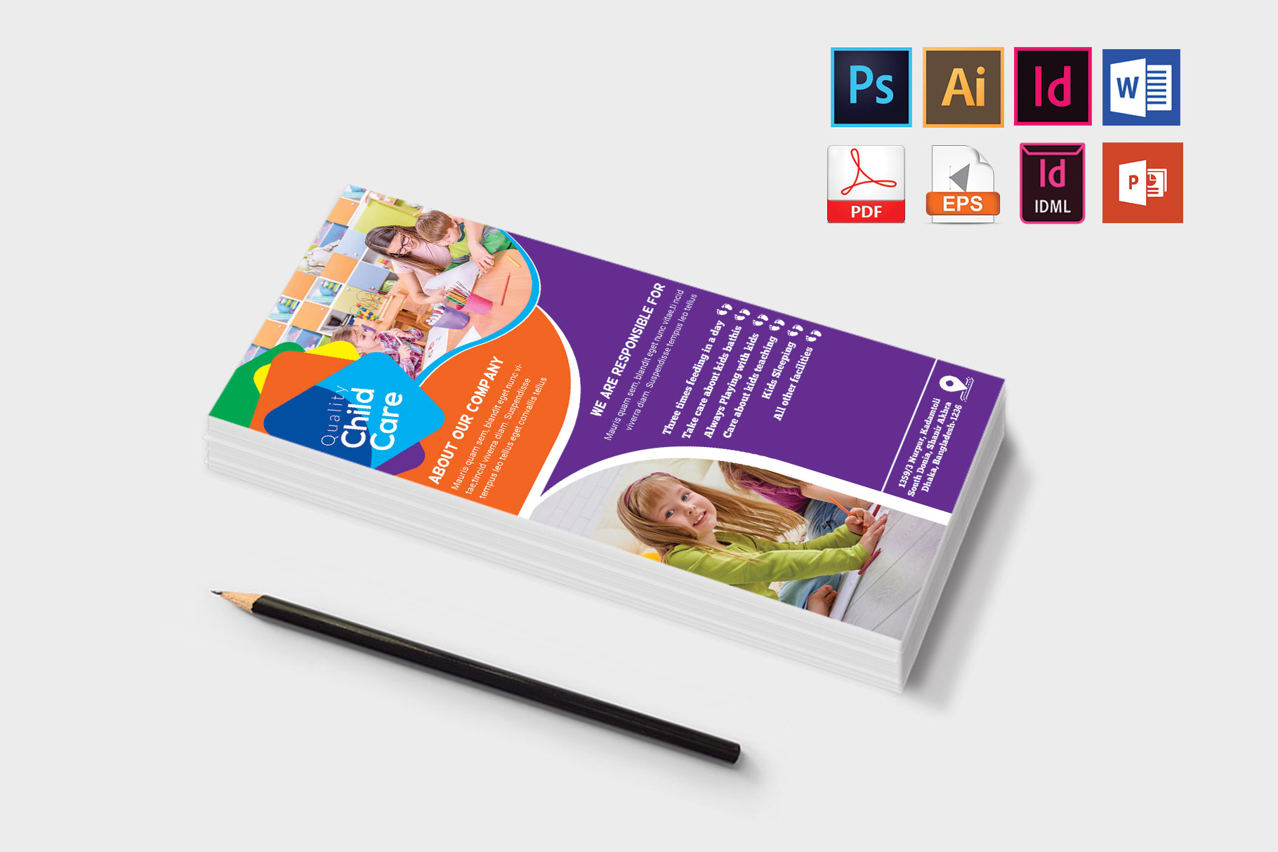 Rack Card   Baby Care DL Flyer Vol-01 example image 3