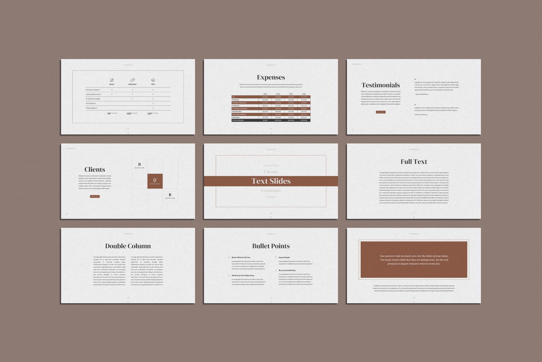 Vermillion PowerPoint Presentation Template example image 15