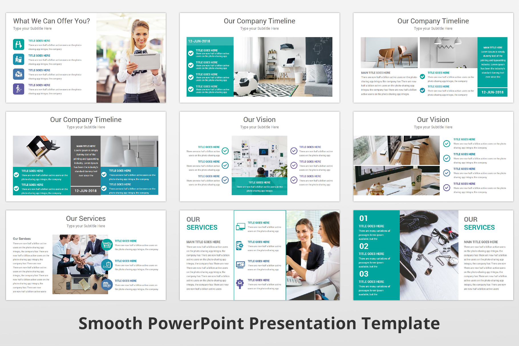 Smooth multipurpose PowerPoint Presentation Template example image 7