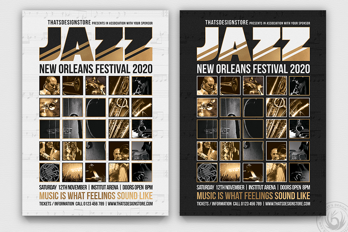 Jazz Festival Flyer Template V9 example image 1