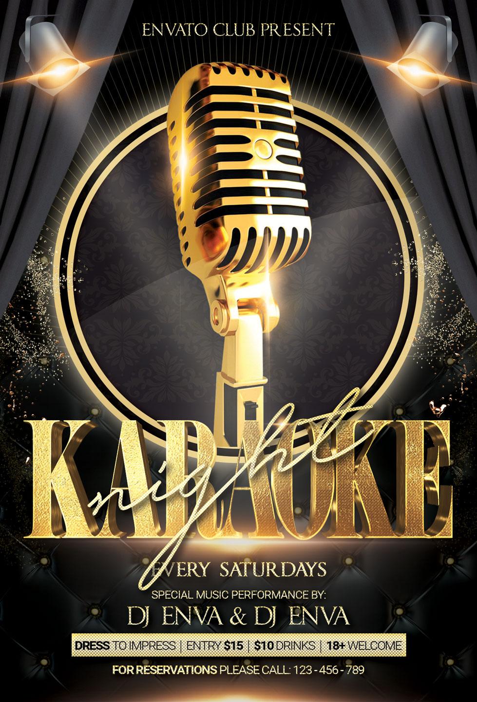 Karaoke Night Party Flyer example image 3
