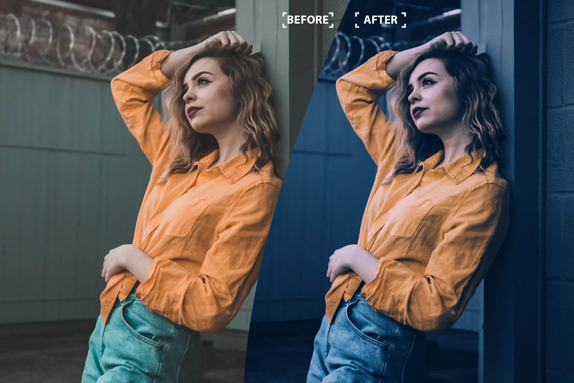 Cinematic Color Grading 01 Premium photoshop action example image 6