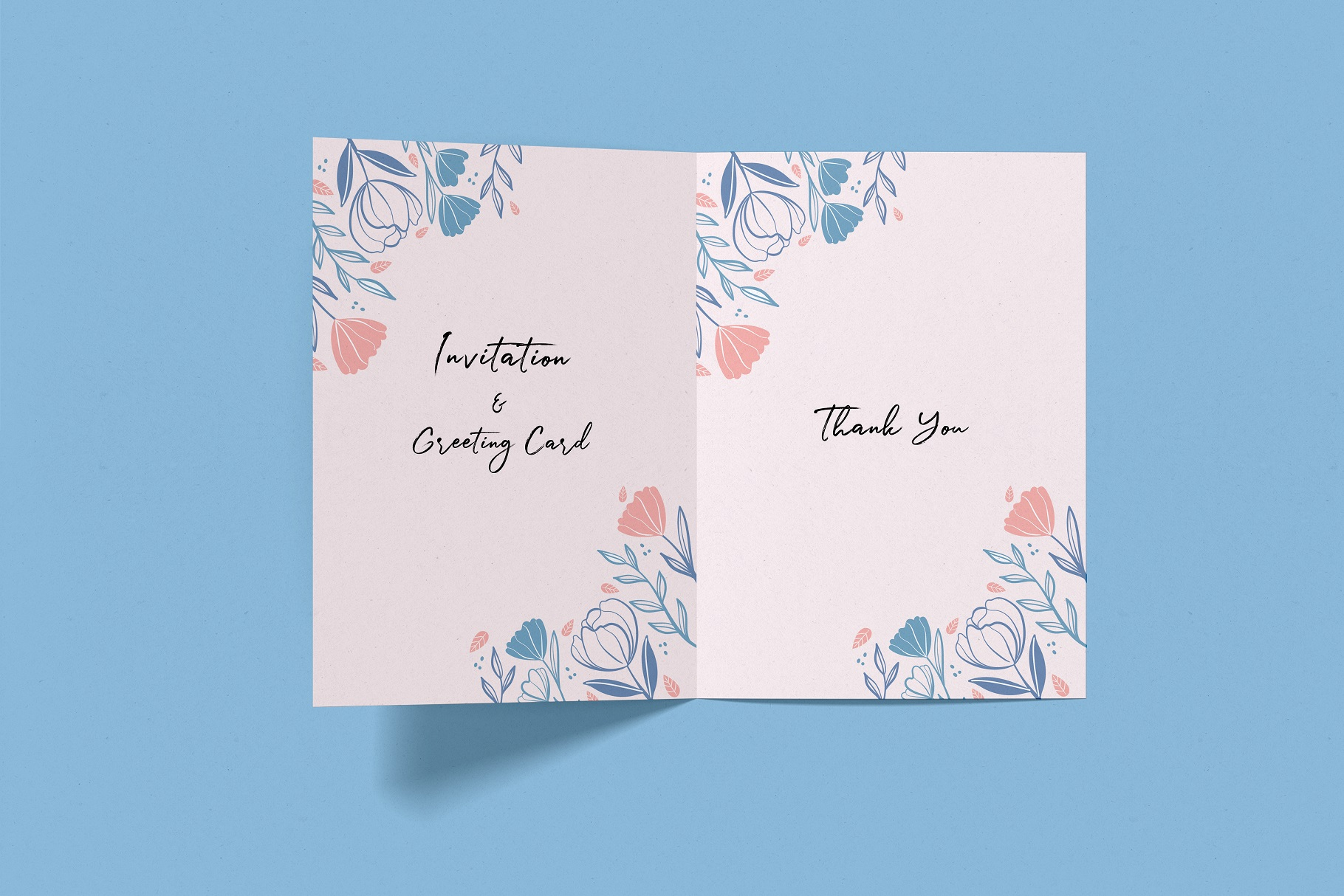 Invitation & Greeting Card Mockup example image 3