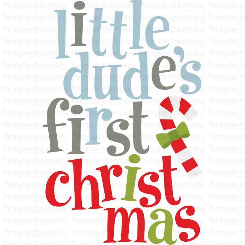Little Dude's First Christmas - SVG, Clipart, Printable example image 2