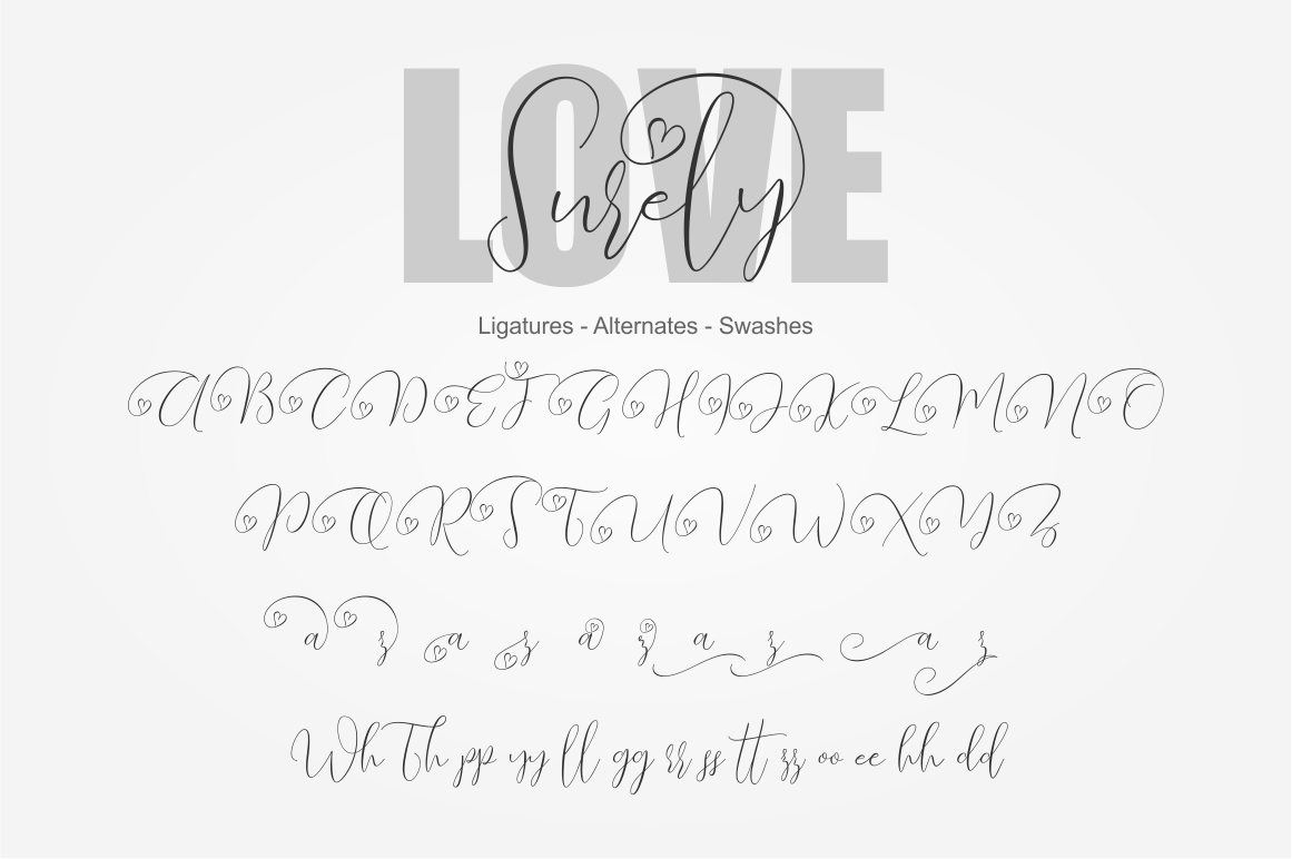 Love Surely | Handwritten Script example image 3