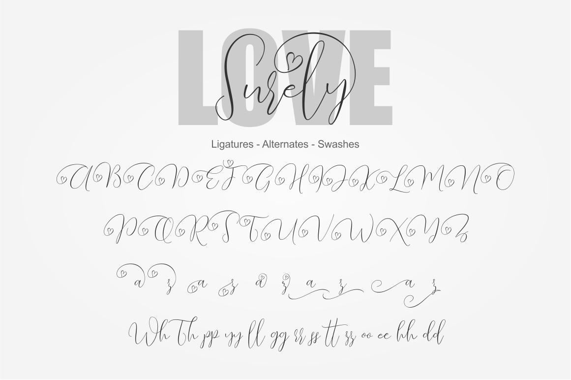 Love Surely | Handwritten Script example image 3