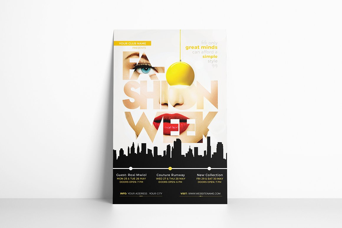 Fashion Week Flyer Template example image 3