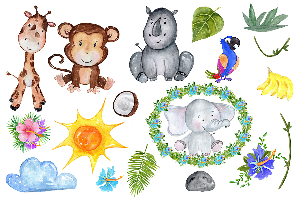 Safari Animals Clipart example image 3