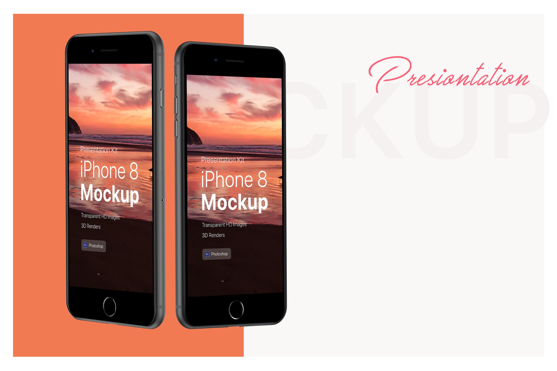 Presentation Kit - iPhone showcase Mockup_v6 example image 3