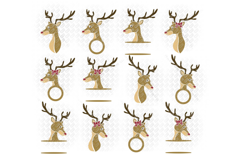Reindeer SVG Bundle Antlers in SVG, DXF, PNG, EPS, JPEG example image 5