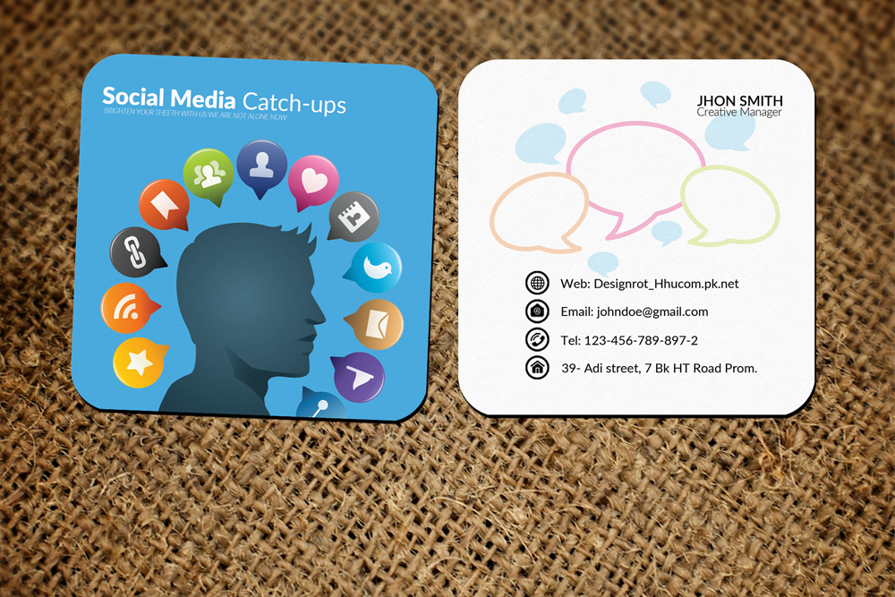 Social Media Small Business Cards