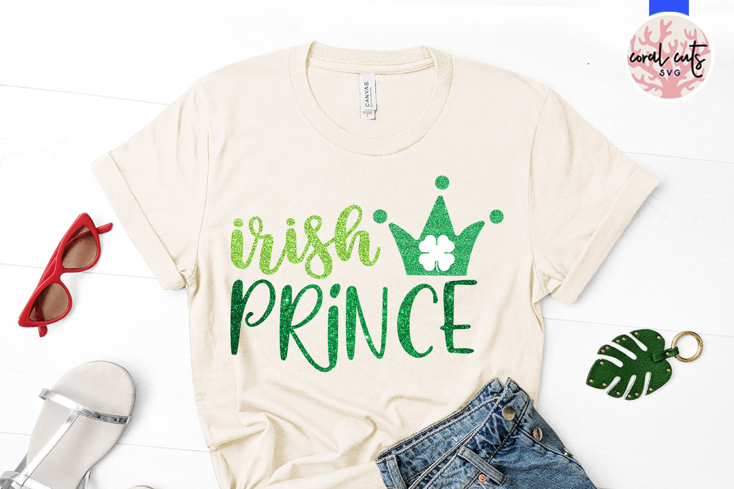 Irish Prince - St. Patrick's Day SVG EPS DXF PNG example image 2