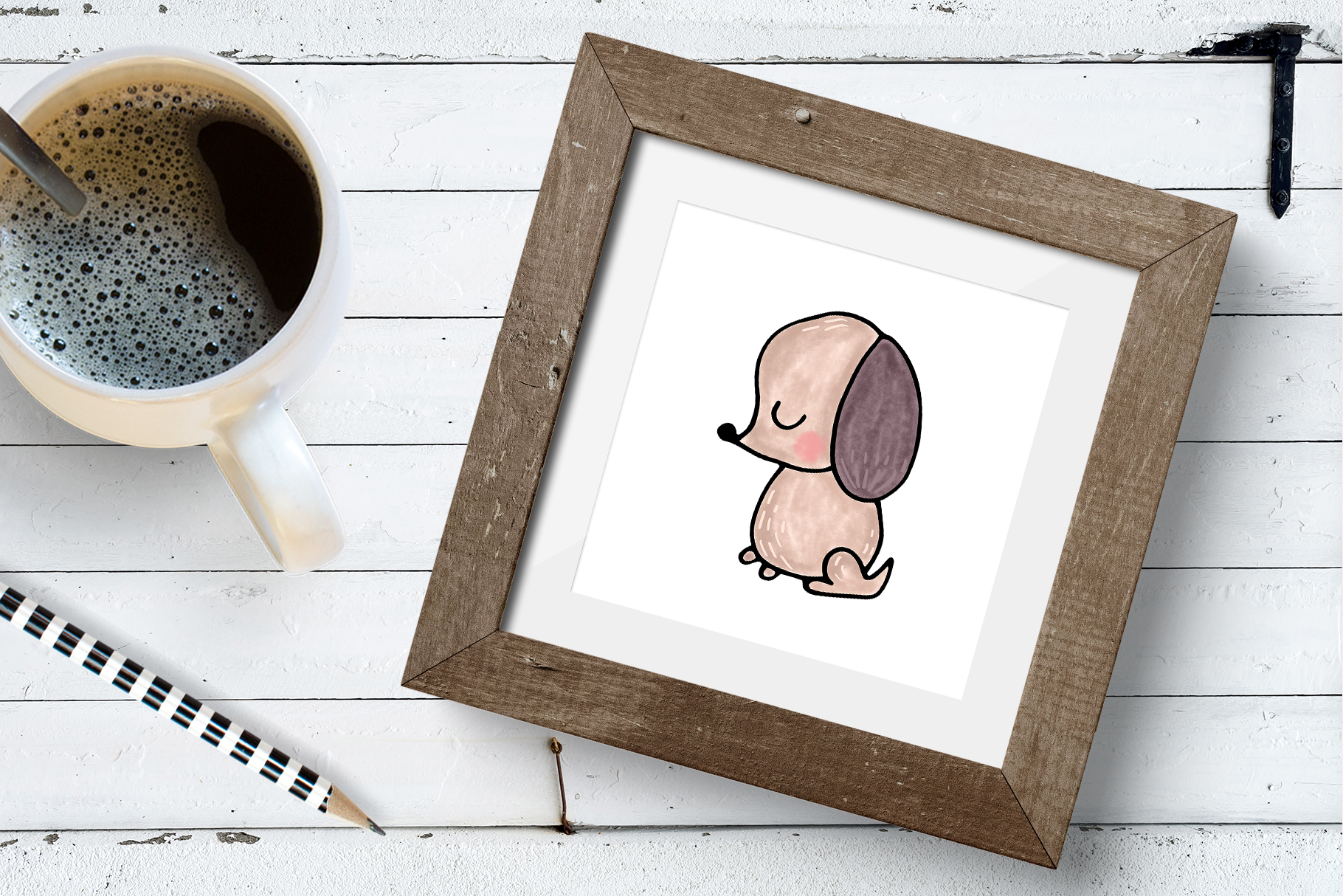 Dog clipart and patterns collection example image 5