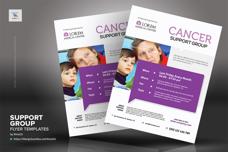 Support Group Flyer Templates example image 4