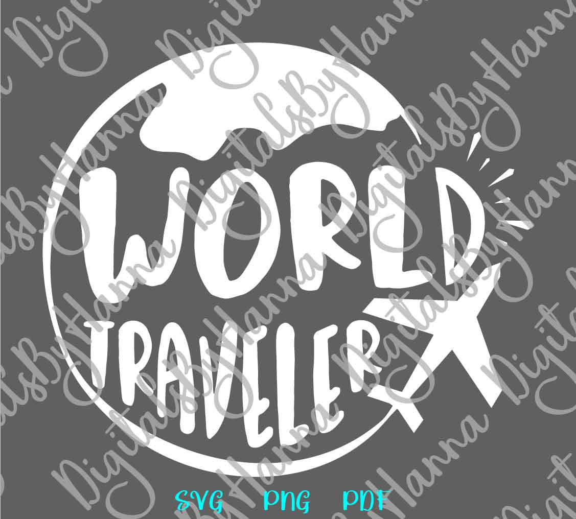 World Traveler Sign Print & Cut PNG SVG DXF PDF JPG Files example image 6