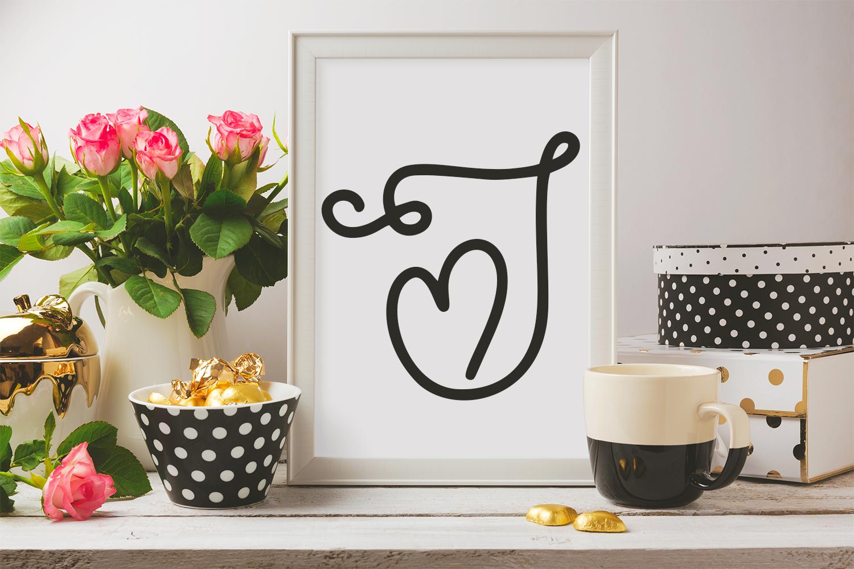 Sweet Valentine - A Monogram Font example image 3