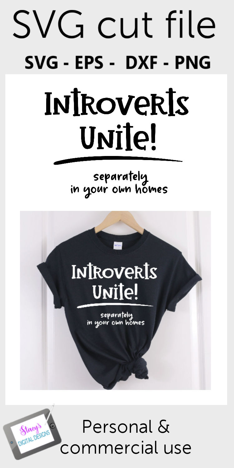 Introverts Unite Separately in your Own Homes SVG - Funny example image 2