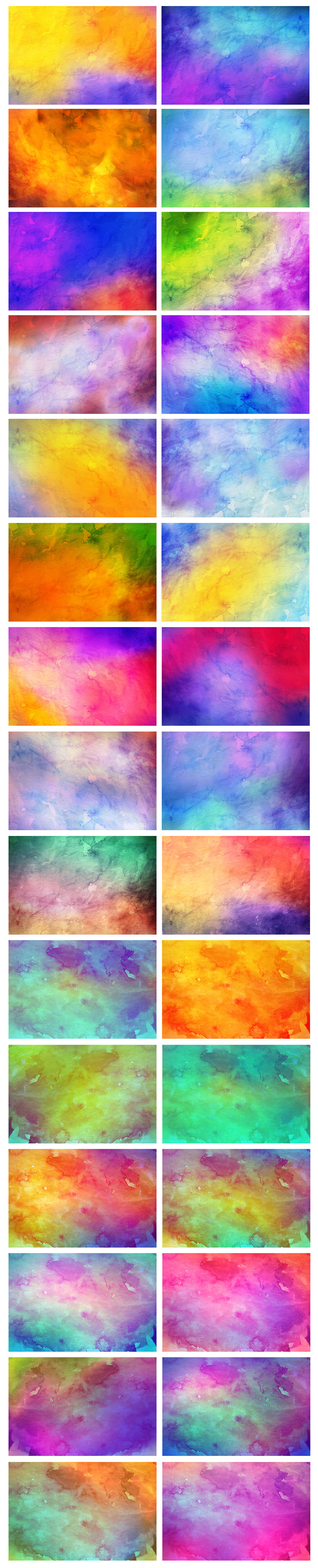 Only Watercolor Backgrounds Bundle example image 8