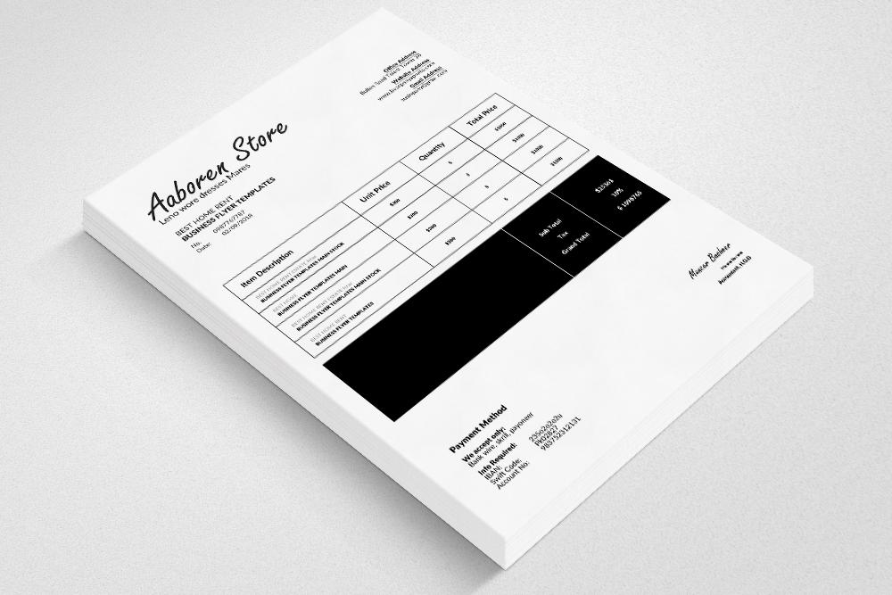 10 Professional Invoice Bundle example image 4