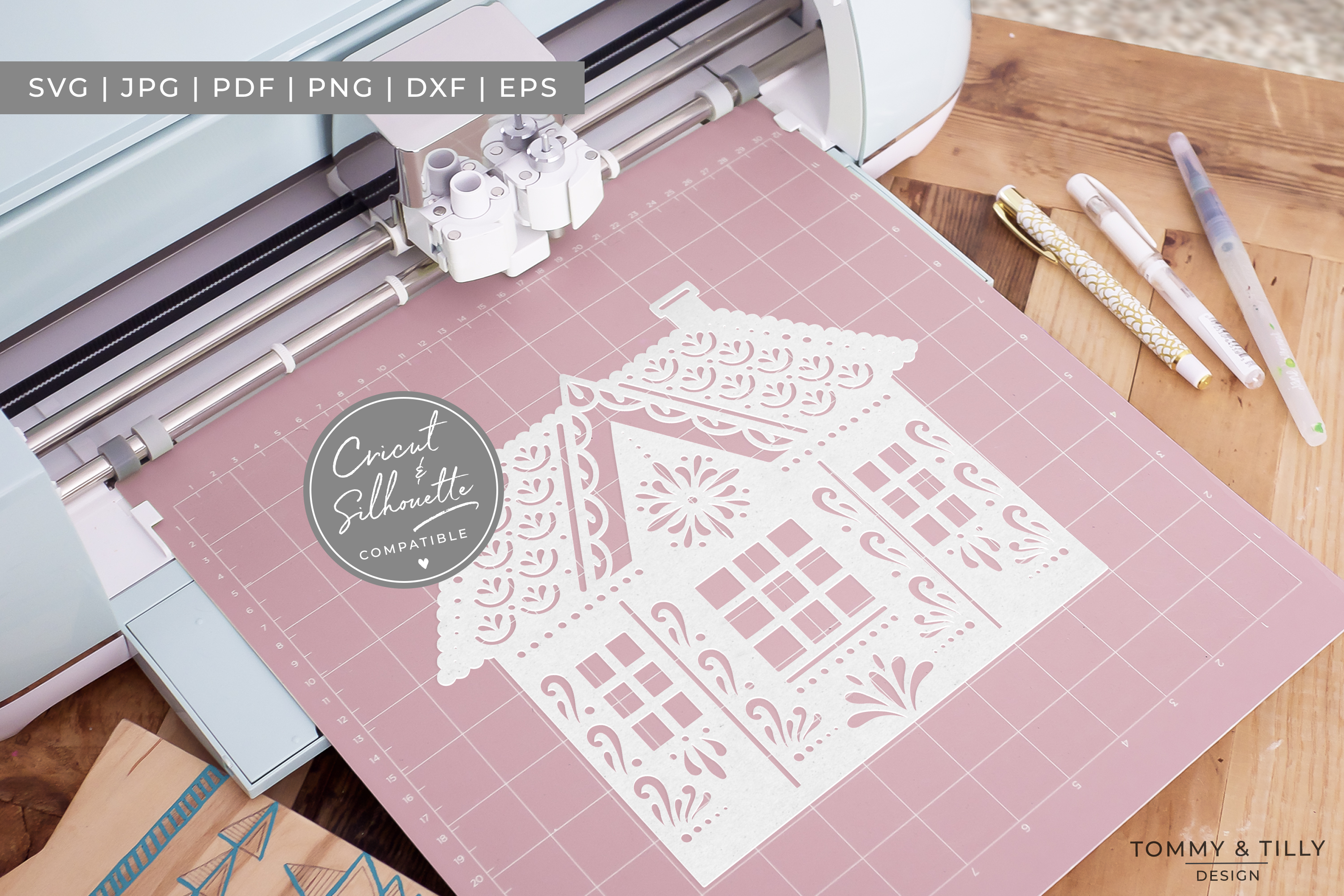 Intricate House No.2 - SVG EPS DXF PNG PDF JPG Cut File example image 2