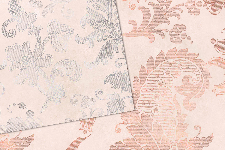 Blush Floral Velvet Digital Paper example image 2
