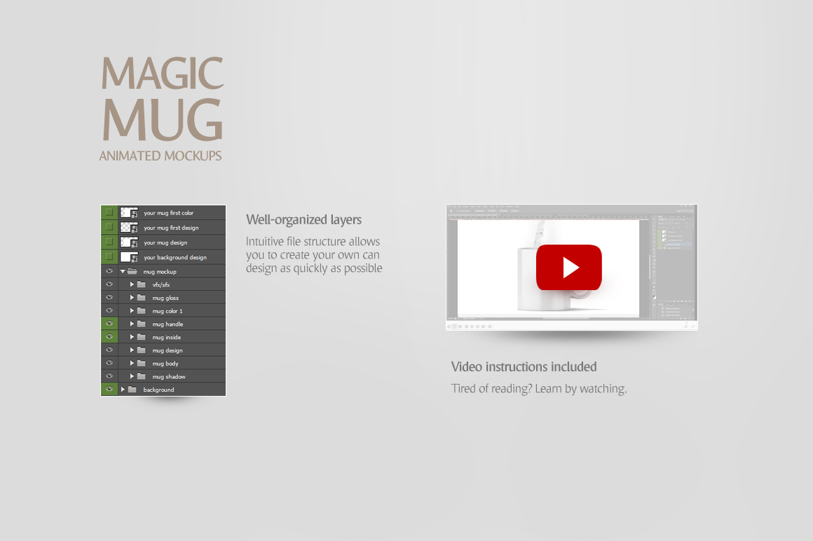 Magic Mug Animated Mock up example image 6