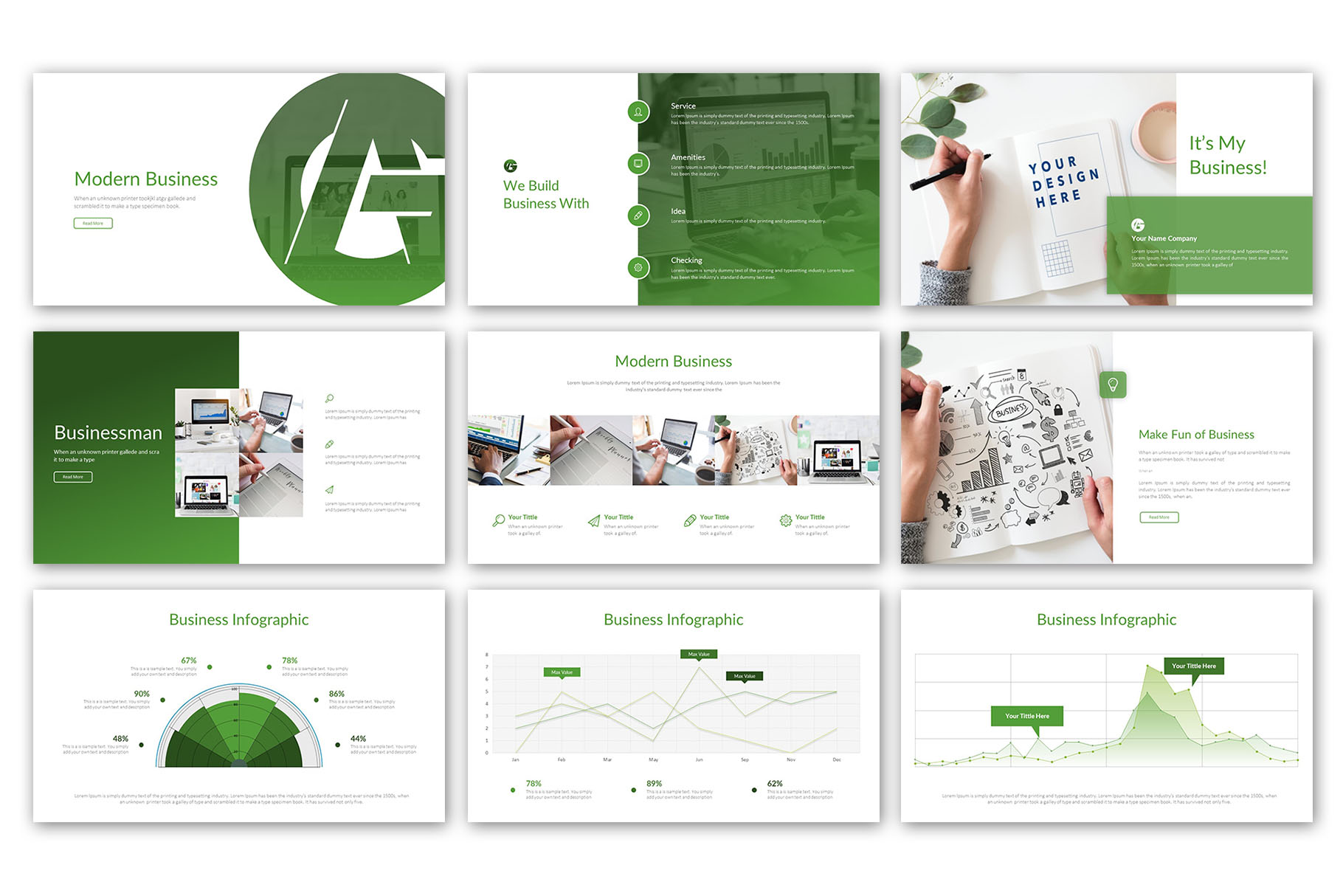 Modern Business Presentation Template example image 2