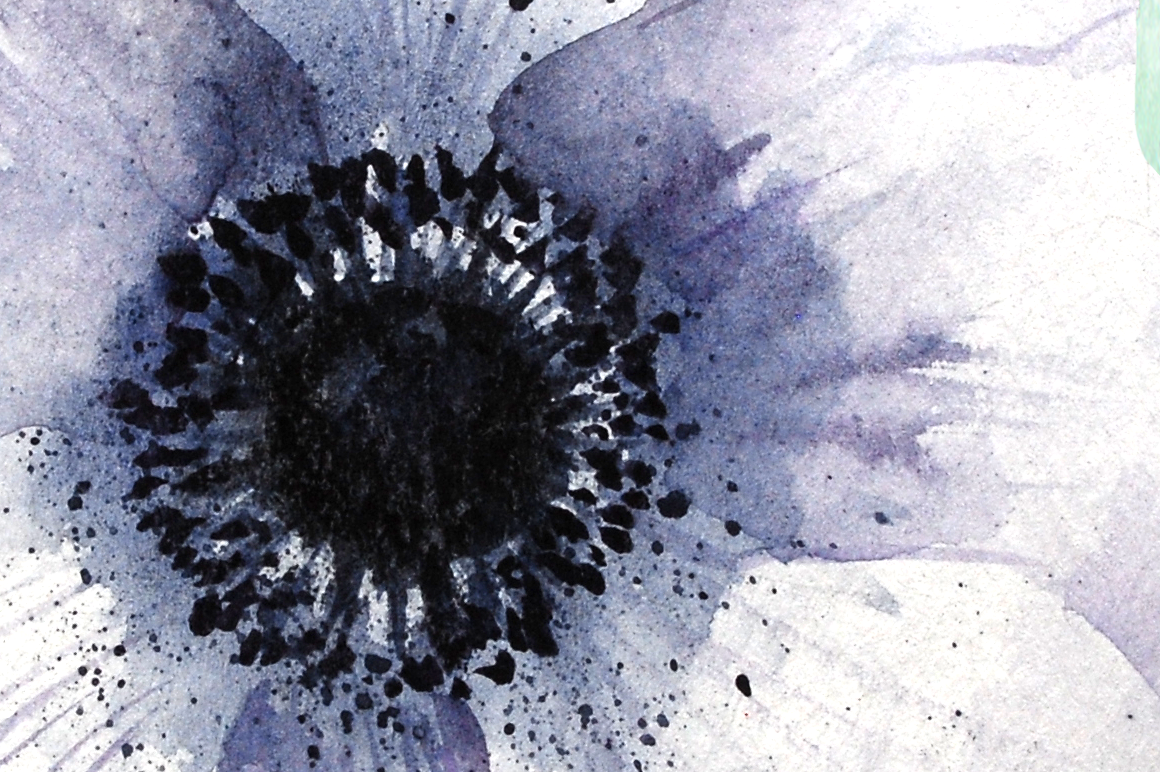 Watercolor Anemone Clipart Set example image 2