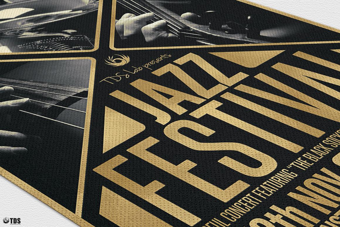 Golden Jazz Flyer Template example image 7