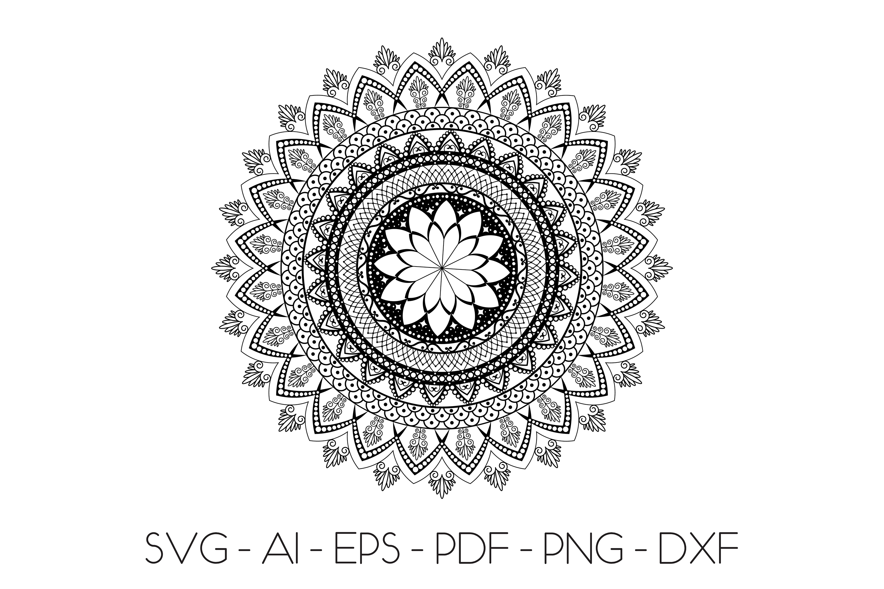 Mandala svg Circle file | Mandala clip art example image 2