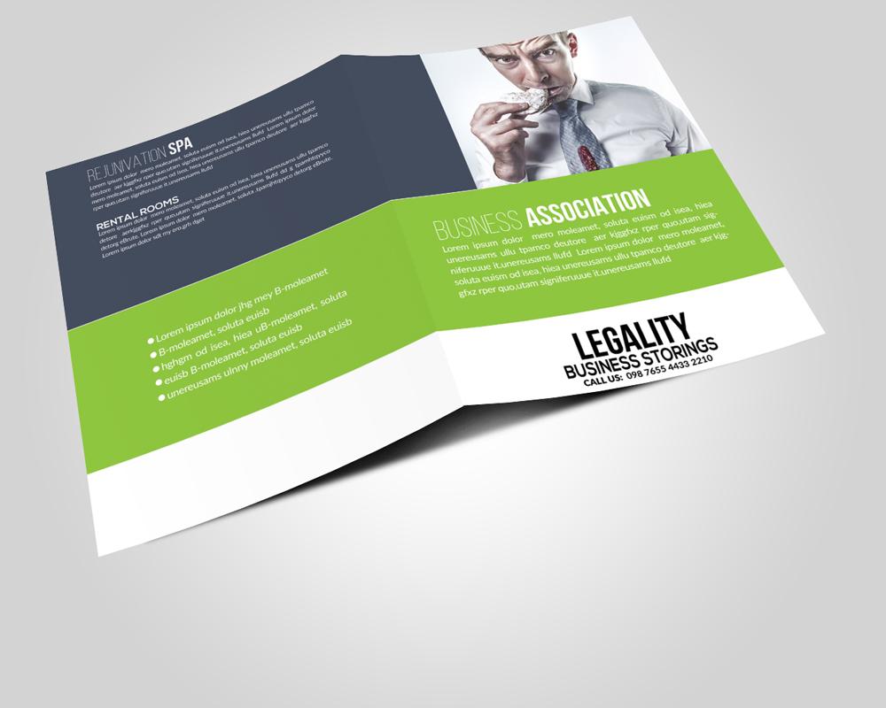 Multi Use Business Bi-fold Brochures Templates example image 2