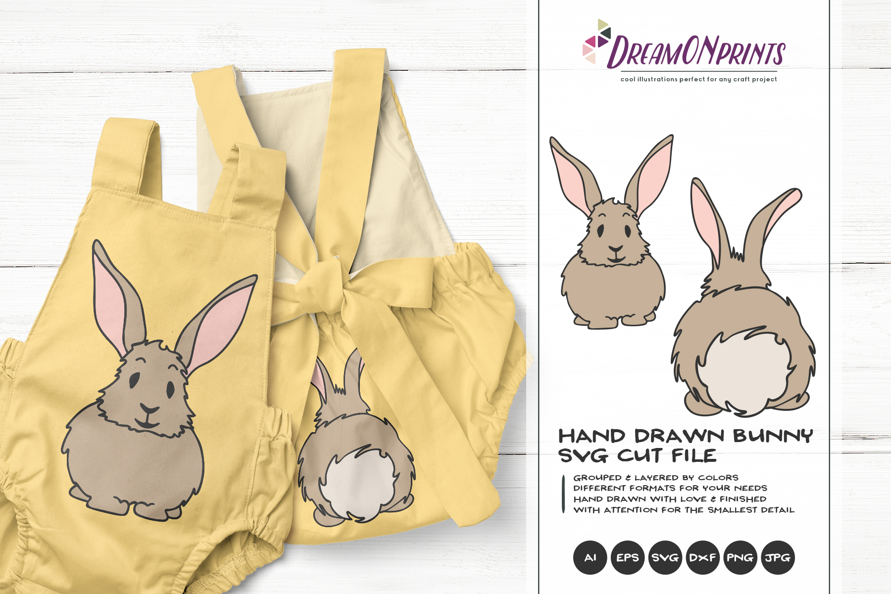 Bunny SVG Cut Files - Bunny Butt SVG - Easter Bunny SVG example image 1