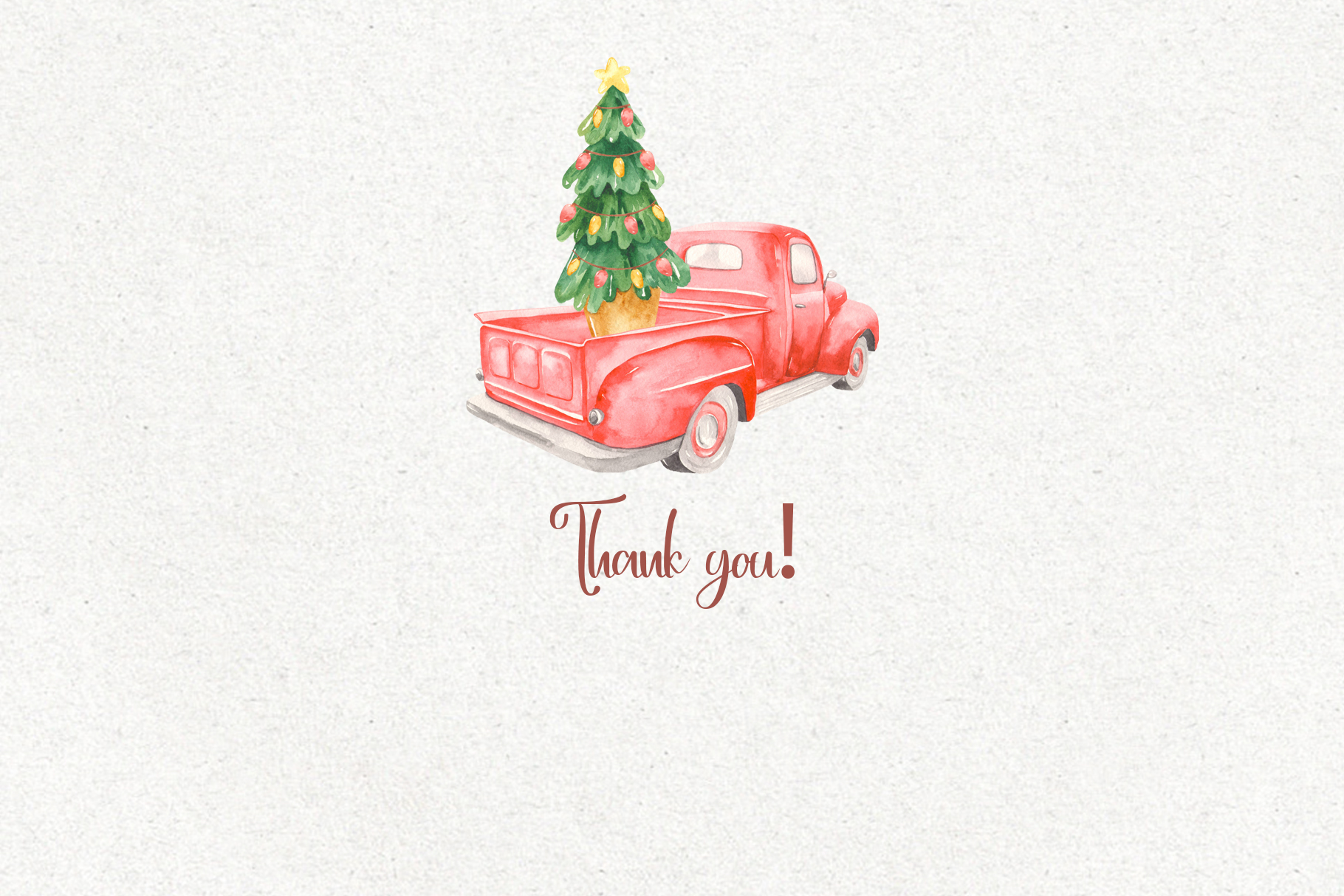 Christmas pickup Watercolor clipart and Christmas elements example image 12