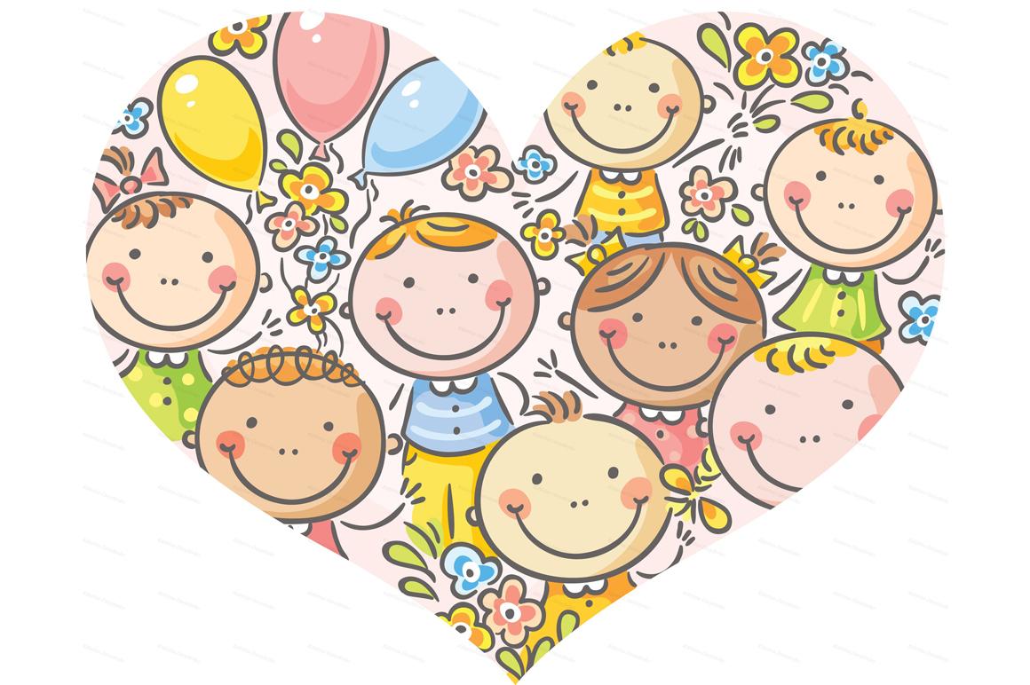 Happy Cartoon Kids Bundle, children doodle, kids doodle example image 11
