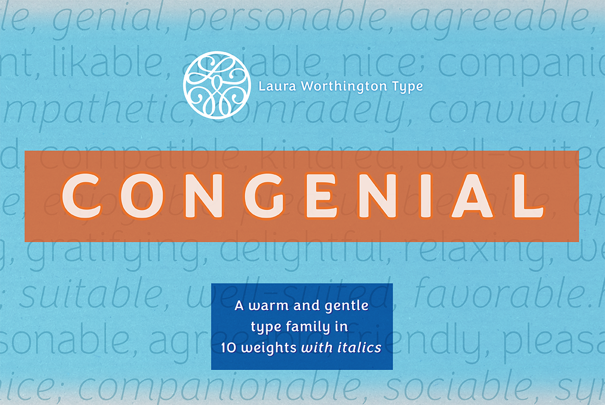 Congenial Italic Ultra Light example image 5