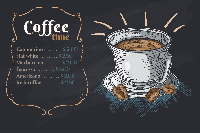 15 designs - Coffee restaurant brochure vector, coffee shop example image 13