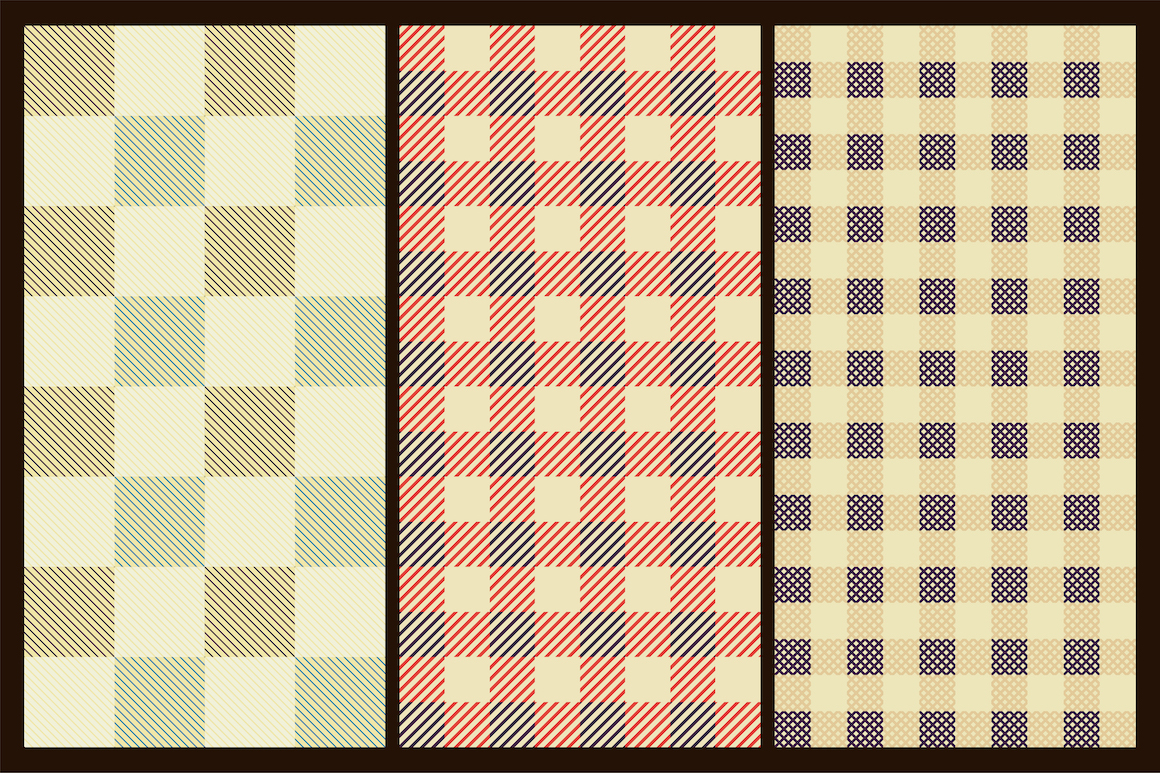Colorful seamless textile patterns example image 6