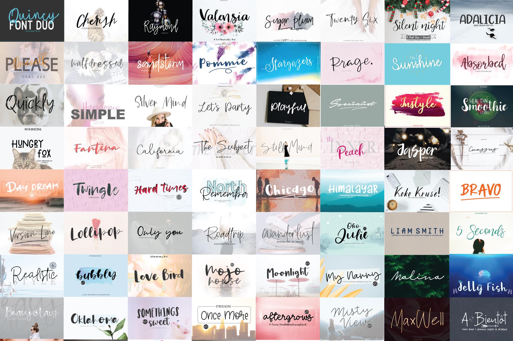 119 Handwritten Font Bundle example image 2