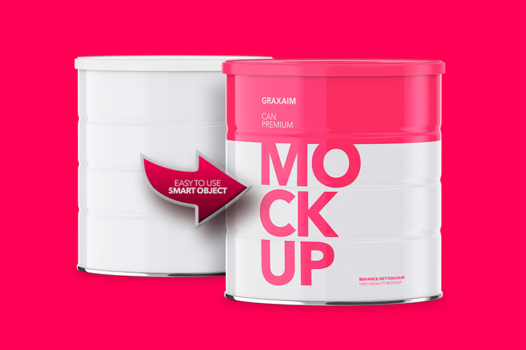 Milk Powder Can - Front Angle - Mockup example image 3