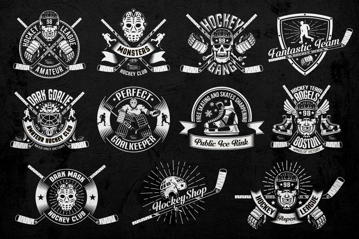 Hockey Logo on Dark example image 4