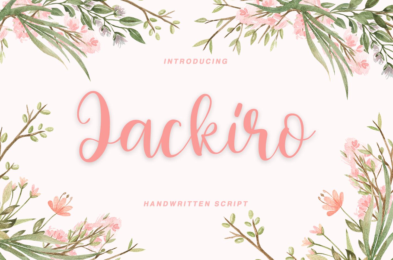 Jackiro - handwritten script  example image 1