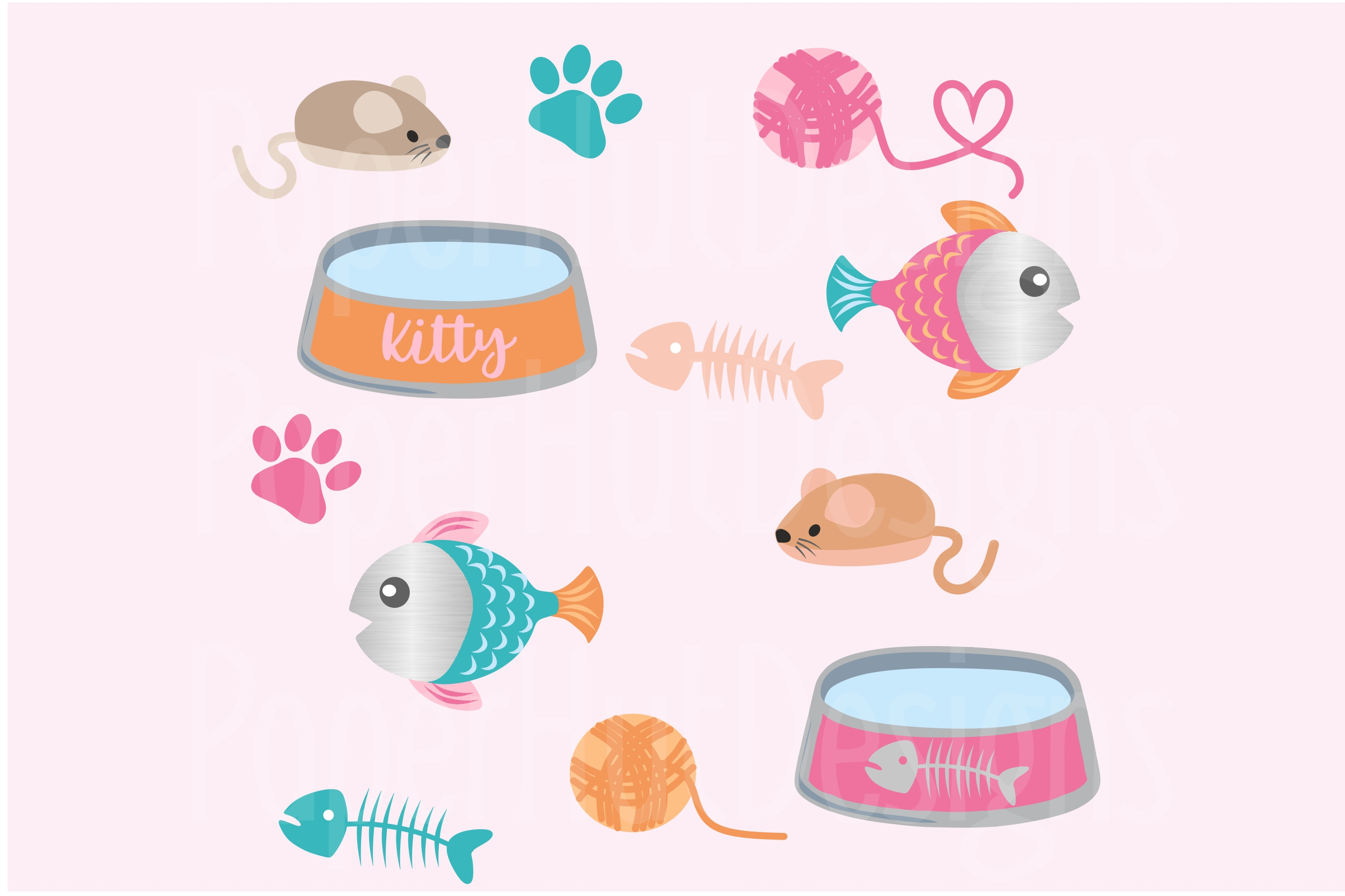 Cute Cats Clipart Part 2 example image 3