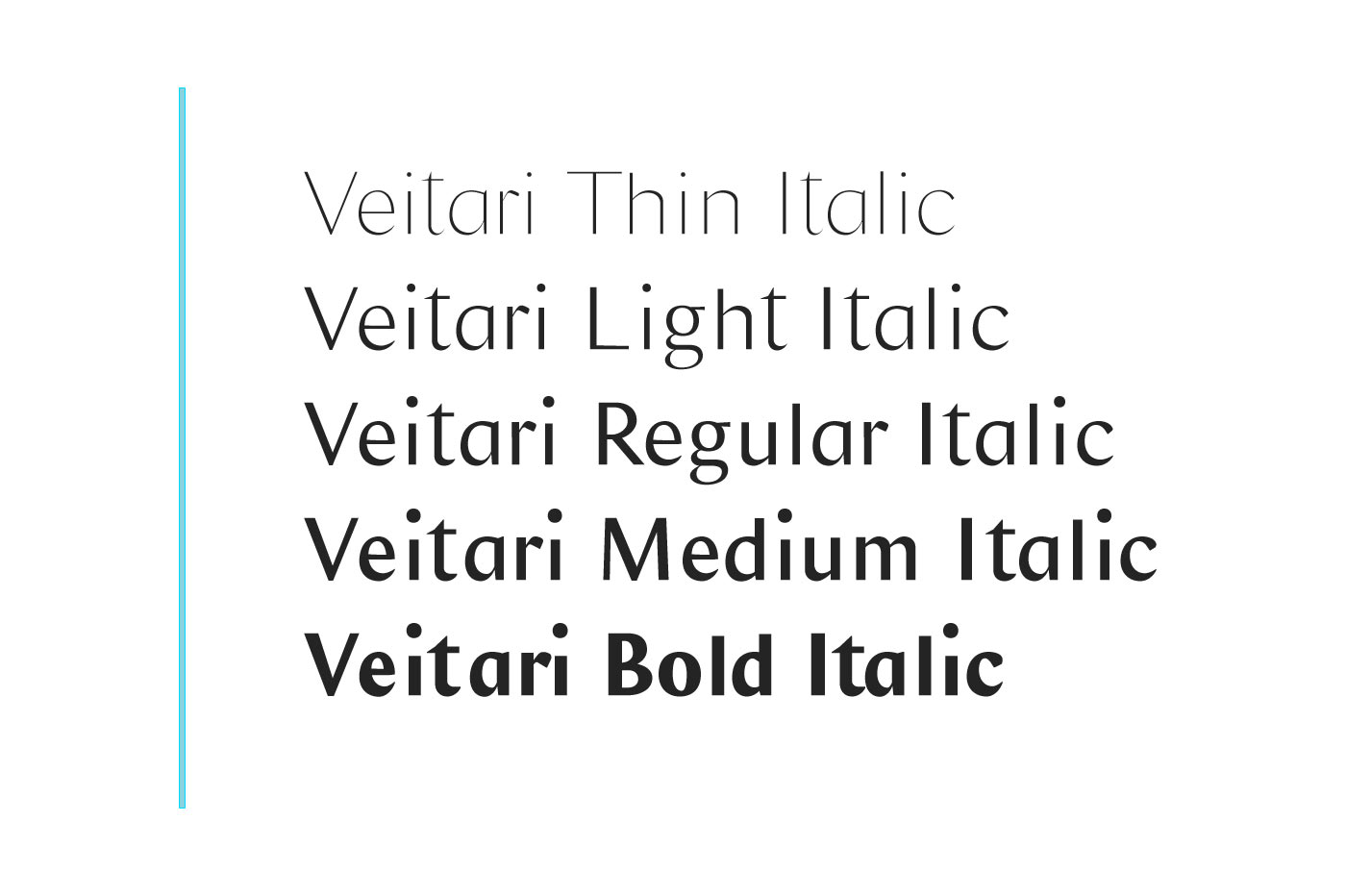 Veitari Typeface example image 5