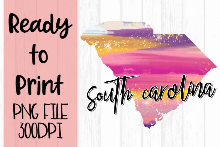 South Carolina Painted States Ready to Print example image 1