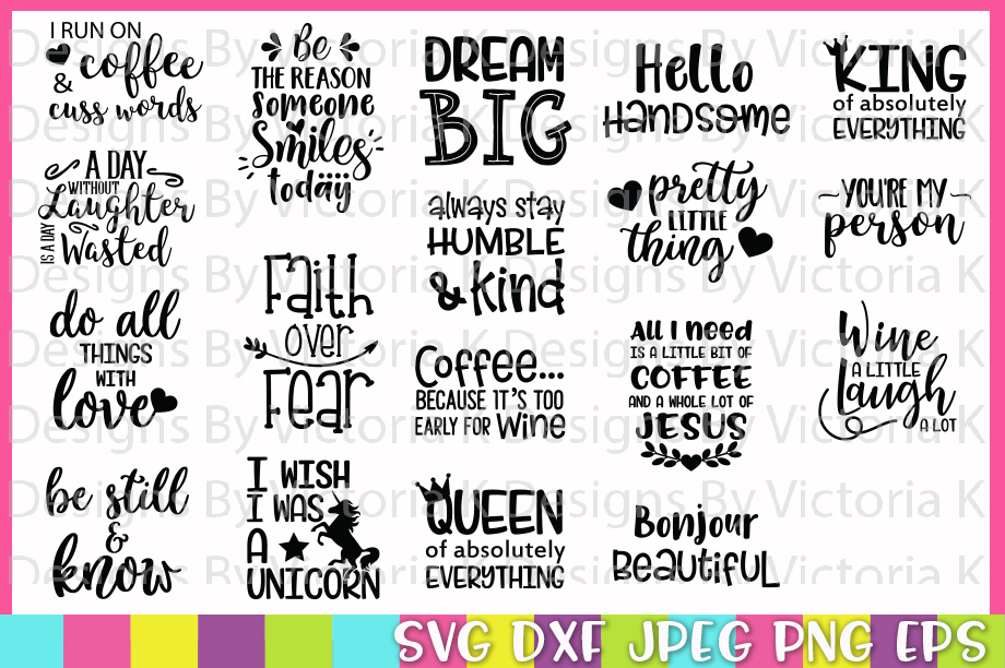 The Huge SVG Bundle, 500 Cutting files, SVG, DXF,PNG example image 2
