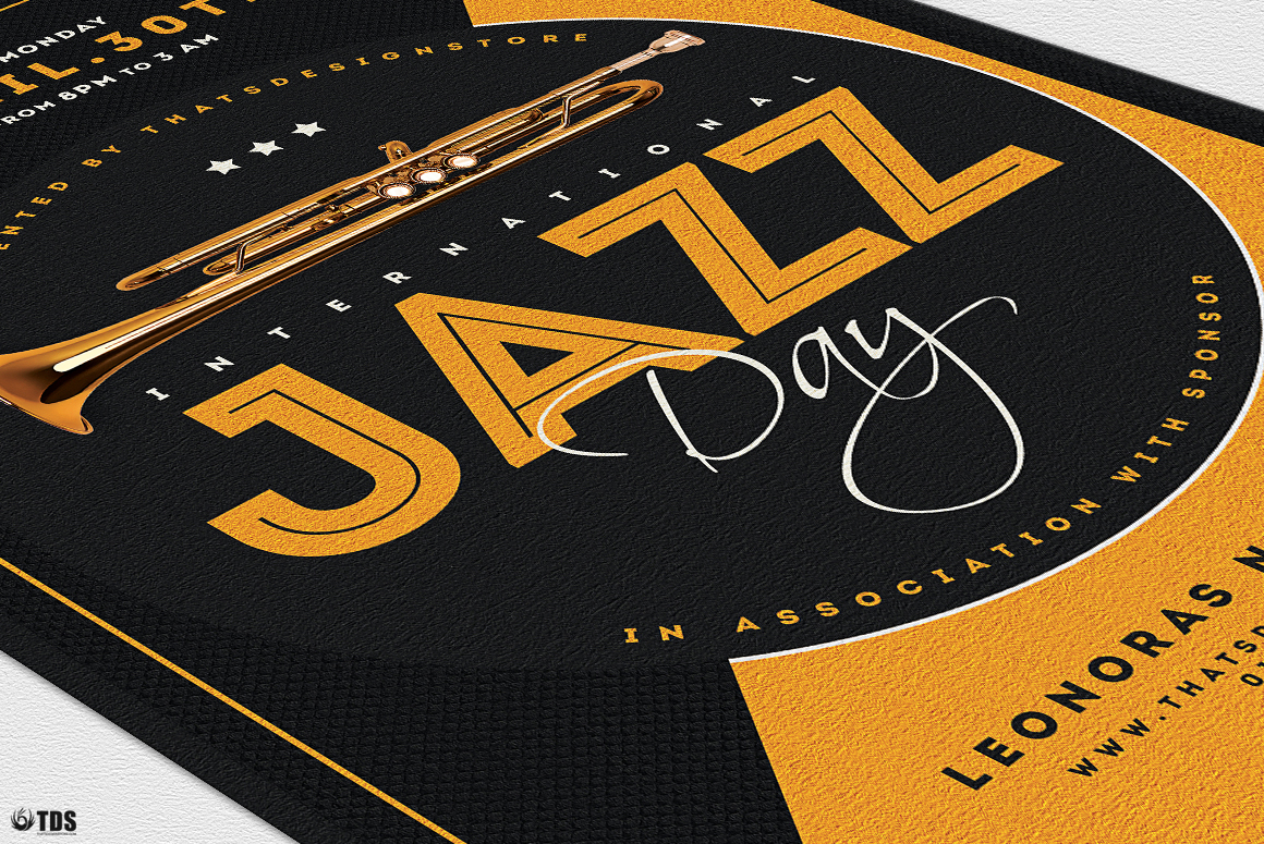 Jazz Day Flyer Template V3 example image 6