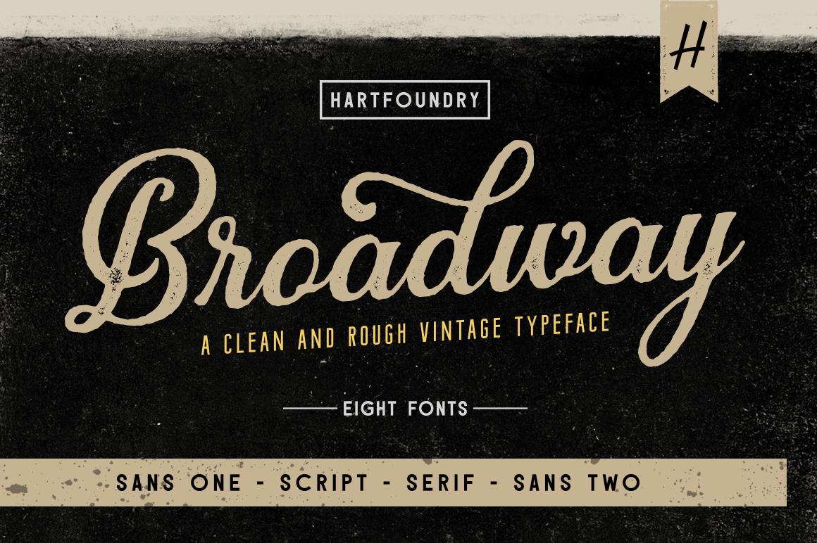 Download Broadway | Font Pack (201767) | Logo | Font Bundles